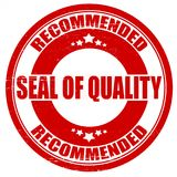 Seal of quality. Stamp with text seal of quality inside,  illustration Stock Photography