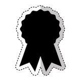 Seal with ribbon emblem. Vector illustration design Royalty Free Stock Photos
