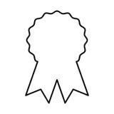 Seal with ribbon emblem. Vector illustration design Stock Photos