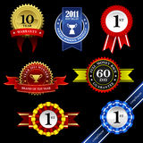 Seal Ribbon Rosette Badge Trophy Medal Banner Awar. A set of seal with ribbons for winners Royalty Free Stock Photo