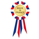 Seal with ribbons MADE IN FRANCE Royalty Free Stock Photos