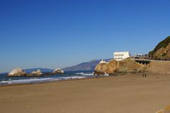 Seal rock ocean beach and cliff house. Seal rock, ocean beach and cliff house - san francisco, ca royalty free stock image