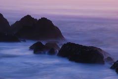 Seal Rocks. Sunset at the Seal Rocks Beach near Newport Oregon along the beautiful Oregon coastline Royalty Free Stock Images