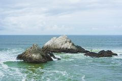 Seal Rocks off the coast of San Francisco. California royalty free stock photography