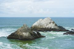 Seal Rocks off the coast of San Francisco. California stock images
