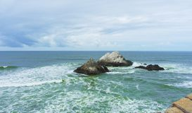 Seal Rocks off the coast of San Francisco. California stock photography