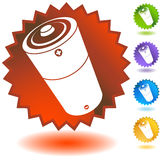 Seal Set - Battery. Set of 5 seal icons - Battery Royalty Free Stock Photo