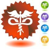 Seal Set - Caduceus. Set of 5 seal icons - Caduceus Stock Photos