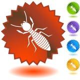 Seal Set - Termite. Set of 5 seal icons - termite Stock Image
