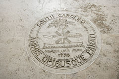 Seal of South Carolina in Fort Bonifacio, Manila, Philippines Royalty Free Stock Photo