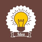 Seal stamp with bulb light icon Royalty Free Stock Photo