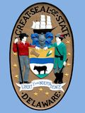 Seal of State of Delaware Stock Photos