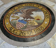 Seal of the State of Illinois. Laid in mosaic tile Stock Photos