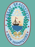 Seal of State of New Hampshire Royalty Free Stock Photo