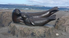 Seal statue Royalty Free Stock Images