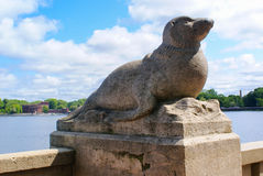 Seal Statue on the promenade Royalty Free Stock Image