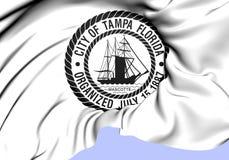 Seal of Tampa City Florida, USA. Royalty Free Stock Photo