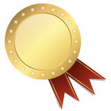 Seal template gold with banner Royalty Free Stock Photos
