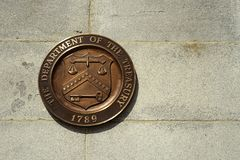 Seal of the United States Treasury dept. stock photography