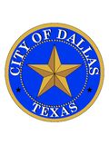 Seal of USA City of Dallas, Texas stock illustration