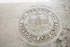 Seal of Vermont in Fort Bonifacio, Manila, Philippines Stock Photo
