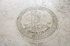 Seal of Virginia in Fort Bonifacio, Manila, Philippines Royalty Free Stock Photo