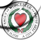 Seal of Worcester, Massachusetts. USA. 3d Rendered Seal of Worcester, Massachusetts. USA stock illustration