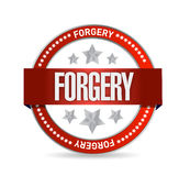 Seal with the word forgery. illustration design Royalty Free Stock Images