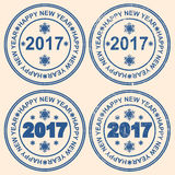 Seal with the words new year. The inscription Happy New Year. Seal with the words new year. 2017. The inscription Happy New Year Royalty Free Stock Photography