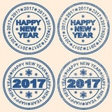 Seal with the words new year. The inscription Happy New Year. Seal with the words new year. 2017. The inscription Happy New Year Royalty Free Stock Photos