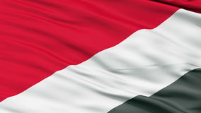 Sealand Micronation Close Up Waving Flag stock video footage