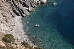 Sealandscape of S. Andrea on Elba Island, Italy. Wonderful panorama from S. Andrea beach. This place is located on Elba Island, in Tuscany, Italy. The island is royalty free stock images