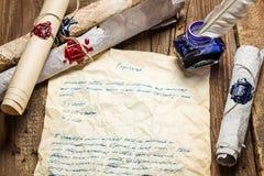 Старым написанная письмом ручка птицы и загерметизированный sealant стоковая фотография rf