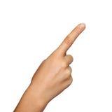 Señalar el dedo Foto de archivo libre de regalías