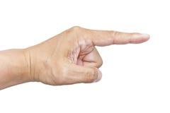 Señalar el dedo índice Imágenes de archivo libres de regalías
