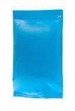 Sealed aluminum sachet on white Stock Image