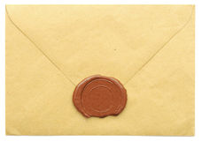 Sealed brown envelope Stock Photo