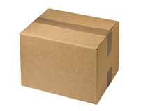Sealed  cardboard  box Stock Photo