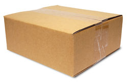 Sealed cardboard box Stock Images