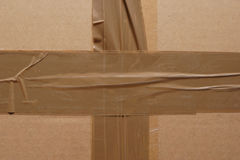 Sealed cardboard box. Royalty Free Stock Photos