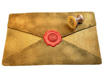 Sealed Envelope Shows Private Message Mailed. Sealed Envelope Showing Private Message Communicated Stock Image