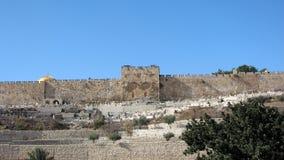 Sealed Golden Gate of the Walls of Old Jerusalem Stock Photos