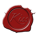 Sealed With a Kiss Stamp stock illustration. Illustration ...