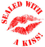 Sealed With a Kiss Stamp Royalty Free Stock Photography