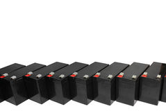 Sealed lead acid batteries  on white background Royalty Free Stock Photos