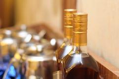 Sealed Liquor. A photos taken on two bottles of sealed hard liquor Stock Image