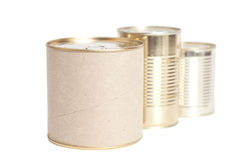 Sealed metal cans Royalty Free Stock Photos