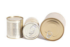 Sealed metal cans Stock Photography