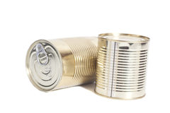Sealed metal cans Stock Images