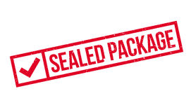 Sealed Package rubber stamp Royalty Free Stock Image